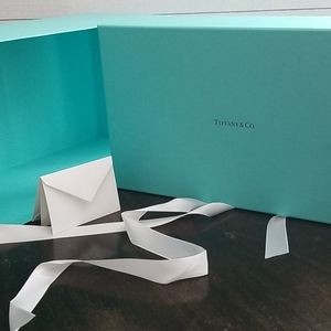 Tiffany & Co. Large Box, Card, and Ribbon